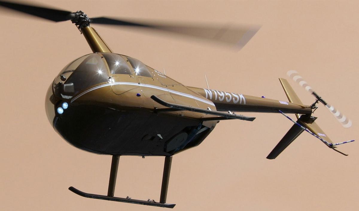 Formation au pilotage sur robinson r44