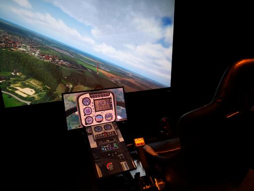 Pilotage simu helico paris