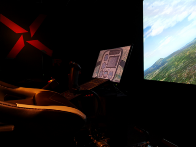 Pilotage simulateur helicoptere